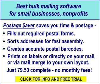 Postage Saver software makes postal bulk mailing easy
